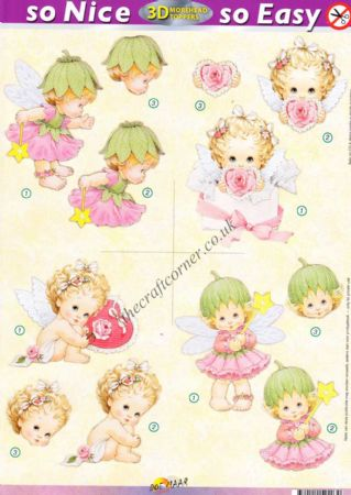 Angel & Fairy So Nice, So Easy Morehead 3D Die Cut Decoupage Sheet